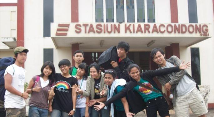 Stasiun Kiara Condong Bandung. Tempat dimana kami memulai dan mengakhiri perjalanan (7/2/8)