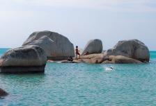 Pantai Marangbulo, di Pulau Seliu Belitung