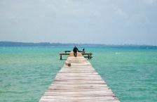Salah satu dermaga kecil di pulau Seliu, Belitung.